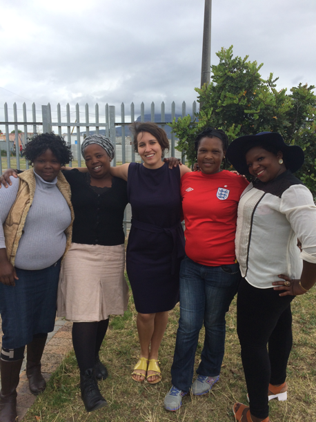The fieldwork team (from left to right): Thabisa Peter, Busisiwe Sokutu (community health worker supervisor), Laura Rossouw (project manager), Koleka Sibeko, Ntombizukile Marhobobo.