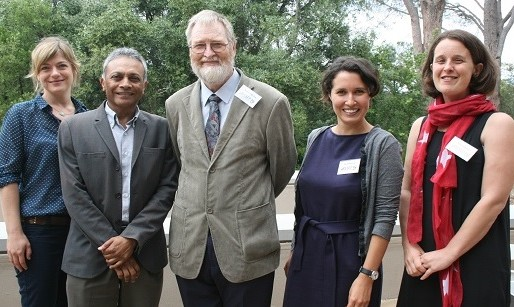 From left: Anja Smith, researcher at SU, Dr Yogan Pillay, Prof Robert Pattinson, Laura Rossouw, researcher at SU, and Dr Ronelle Burger